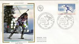 ANDORRA. Lake Placid N-Y. Olympic Games 1980. FDC