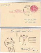 1954  SIGNED LAST DAY Of BERTRAND Va POST OFFICE Postal STATIONERY CARD Usa Cover Stamps Event