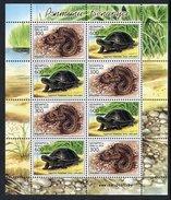 BELARUS 2003 Reptiles Sheetlet MNH / **.  Michel 481-82 Kb - Belarus
