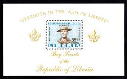 Liberia MNH 1961 #C136 Souvenir Sheet 35c Boy Scouts - Liberia