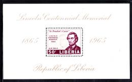 Liberia MNH 1965 #C166 Souvenir Sheet 50c Lincoln, Kennedy - Liberia