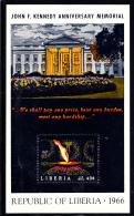 Liberia MNH 1966 #C175 Souvenir Sheet 40c John F Kennedy Anniversary Memorial - Liberia