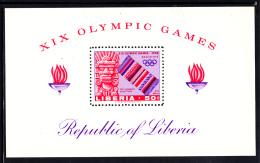 Liberia MNH 1968 #C181 Souvenir Sheet 50c  Pre-Hispanic Sculpture 1968 Summer Olympics - Liberia