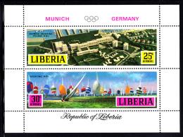 Liberia MNH 1971 #C187 Souvenir Sheet Of 2 Yachting 1972 Munich Summer Olympics - Ete 1972: Munich