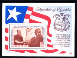 Liberia MNH 1972 #C195 Souvenir Sheet 55c President Tolbert's Swearing-in Ceremony - Liberia