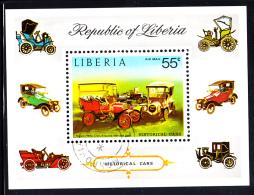 Liberia Used 1973 #C199 Souvenir Sheet 55c Franklin 10HP Cross-engined Automobiles - Liberia