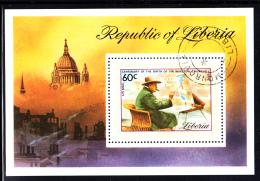 Liberia Used 1974 #C205 Souvenir Sheet 60c Sir Winston Churchill - Liberia