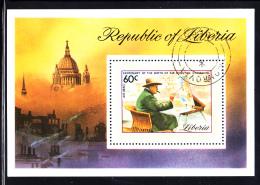 Liberia Used 1974 #C205 Souvenir Sheet 60c Sir Winston Churchill