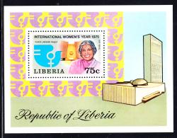 Liberia MNH 1975 #C206 Souvenir Sheet 75c International Women's Year - Liberia