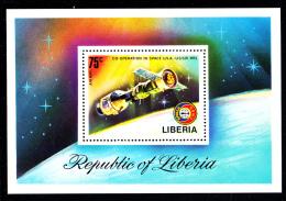 Liberia MNH 1975 #C209 Souvenir Sheet 75c Apollo-Suyez Link-up - Liberia