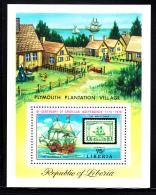 Liberia MNH 1975 #C207 Souvenir Sheet 75c Mayflower American Bicentennial - Liberia