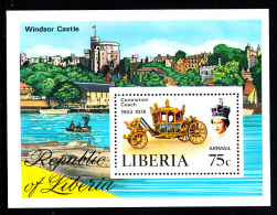 Liberia MNH 1978 #C221 Souvenir Sheet 75c Coronation Coach - Liberia