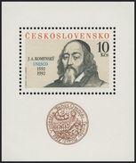 Czechoslovakia / Stamps (1992) 3002A: 400th Birth Anniversary John Amos Comenius (1592-1670) UNESCO; Painter Karel Benes
