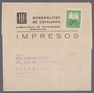 Lettre Bande Journaux Espagne Timbre Pas Oblitéré - 1931-Aujourd'hui: II. République - ....Juan Carlos I