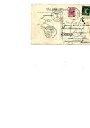 FRANCE TP 137 S/CP De PEURVILLE 1911 V.  IXELLES (BRUXELLES) - TTX 10c N° 5 IXELLES 1 - REEXPEDIEE V. VEVEY (Suisse) - - Briefe U. Dokumente
