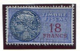 FRANCE- Timbre Fiscal Y&T N°149 De 1936-58- Oblitéré - Fiscales
