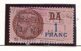 FRANCE- Timbre Fiscal Y&T N°191 (type I) De 1936-42- Oblitéré - Fiscales