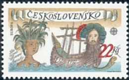 Czechoslovakia / Stamps (1992) 3006: 500th Anniversary Of The Discovery Of America (EUROPA / CEPT) Painter: Adolf Born