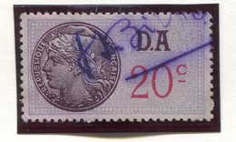 FRANCE- Timbre Fiscal Y&T N°176 (Type II) De 1936-42- Oblitéré - Fiscales