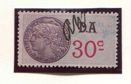 FRANCE- Timbre Fiscal Y&T N°178 (Type II) De 1936-42- Oblitéré - Fiscales