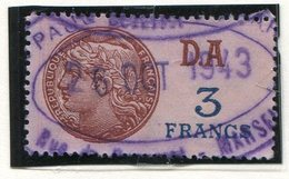 FRANCE- Timbre Fiscal Y&T N°206 (Type II) De 1936-42- Oblitéré - Fiscales