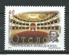 Macedonia 2012 The 125th Anniversary Of The Othello Theatre.Architecture  Buildings.Giuseppe Verdi,Italy.MNH ** - Macedonia