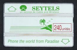 SEYCHELLES SEY02 1st Issue 240u Green Palm & Slogan 902D Mint Rare L&G