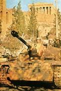 Militaria WW2  - Blindé Allemand Dans Les Rues D'Athènes En 1941 - 1939-45