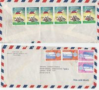 1979 PHILIPPINES Air Mail COVER 10 X STAMPS BOTH SIDES Flag ANGAT DAM IRRIGATION To GB Flags Environment - Philippines
