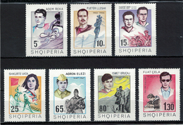 Albania 1969 _ The Heroes Of Our Time _ Full Set MNH** - Albania
