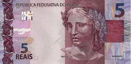 BRAZIL 5 REAIS 2010 (2013) P-253 UNC PREFIX AA [BR875a] - Brazil