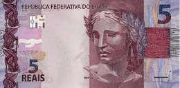 BRAZIL 5 REAIS 2010 (2013) P-253 UNC PREFIX AA [BR875a] - Brazilië