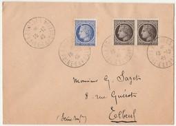 8/5/1948 - Enveloppe Lettre -  BOURGES  - Foire Exposition  - Pour ELBEUF -  Yvert Et Tellier N°674 & 677 - Marcophilie (Lettres)
