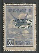 Graf Zeppelin 20c Ultramar Sobrecarga Verde - Airmail
