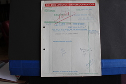 Fac-124 / Holland - Pays-Bas - C.V. Zuid-Limburgs Kleiverkoopkantoor - Nuth, Schoolstraat 32 / 1950 - Netherlands