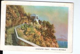 S2663 Cartolina Della Campania - Anacapri (Capri, Napoli) Villa S. Michele + Bollo Filatelico _ NICE TIMBRE - Italia