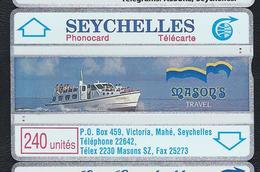 SEYCHELLES SEY11 240u Mason's Travel Boat 105H Used L&G Optical