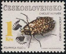 Czechoslovakia / Stamps (1992) 3014: Protecting Nature - Protected Beetles (Polyphylla Fullo); Painter. Petr Johanis - Beroemde Personen