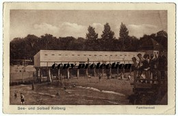 See- Und Solbad Kolberg, Familienbad, Kolobrzeg, Alte Ak Ansichtskarte 1926 - Polen