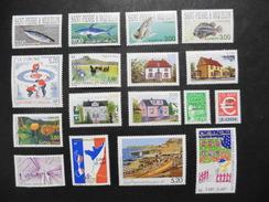 S.P.M :Saint Pierre Et Miquelon :16 Timbres Neufs - Collections, Lots & Séries