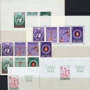 Menschenrechte 1960 Paraguay 857/3,Blocks 3/4 Plus 840 B+Bl.A28 ** 74€ Hojitas Ss Olympic Bloc Ms Flam Sheets Bf UN - Stamps