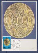 = Journée Du Timbre 1975 Carte Postale 1er Jour Nice 8.3.75 N°1838 Plaque De Facteur De Paris Sous La IIème République - Maximumkarten