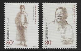 CHINA. Yvert Nsº 4152/53 Nuevos Y Un Sello Defectuoso