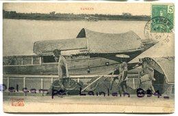 - 187 - Tonkin - HAIPHONG - Transbordement De Terre à Bord, D'une Jonque, Rare, écrite, 1907, TBE, Scans.. - Viêt-Nam