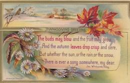 EMBOSSED THANKSGIVING GREETINGS CARD - Thanksgiving