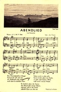 ABENDLIED  Spartito Musicale -F/G  B/N  (101212) - Postcards