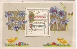 EMBOSSED  EASTER   GREETINGS CARD. - Easter