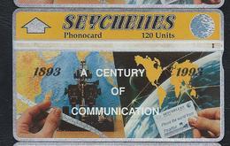 SEYCHELLES SEY20b 120u Century Of Telecom 1893-1993 309A Used L&G Optical