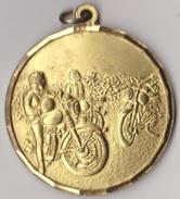 MEDAGLIA XII MOTORADUNO  DELLE ALPI -COGNE GIUGNO 1991(60814) - Italia
