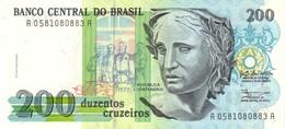 BRÉSIL 200 CRUZEIROS ND (1990) P-229 NEUF [BR851a] - Brazilië
